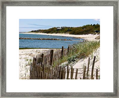 Along The Shoreline Of Brewster Beach Framed Print