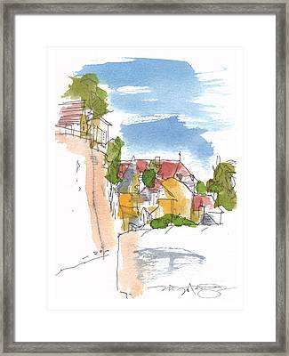 Along The Town Walls Framed Print