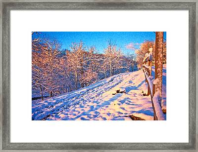 Along The Way Home Framed Print