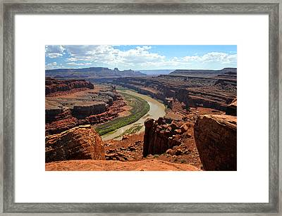 Along The White Rim Road Framed Print by Marty Koch