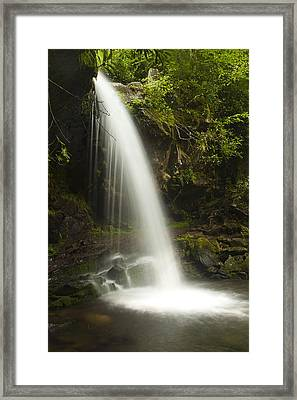 Alongside Grotto Falls Framed Print by Andrew Soundarajan