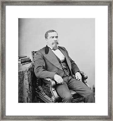 Alonzo Jacob Rancier 1834-1882 Framed Print by Everett