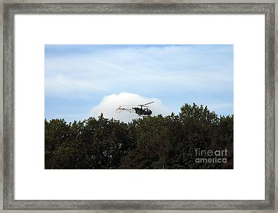 Alouette II Of The Belgian Army Framed Print by Luc De Jaeger