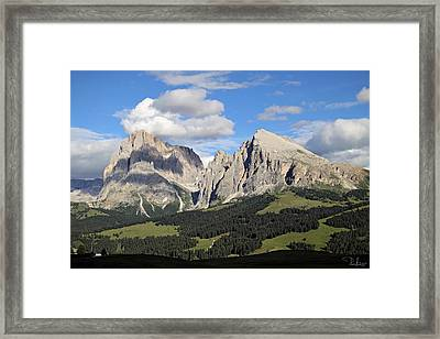 Framed Print featuring the photograph Alpe Di Siusi by Raffaella Lunelli