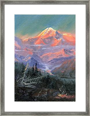 Alpen Glow Framed Print by Kurt Jacobson