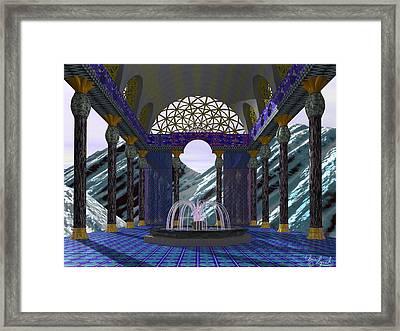Alpen Temple Framed Print by Christopher Lynch