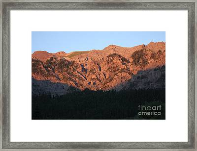 Framed Print featuring the photograph Alpenglow by Marta Alfred