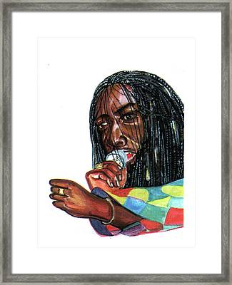 Alpha Blondy Framed Print