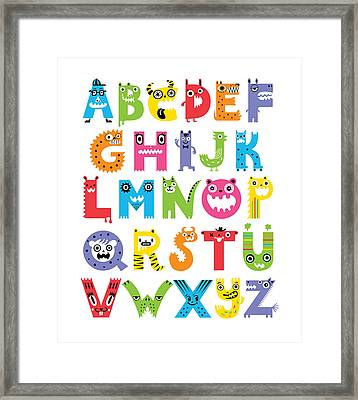 Alphabet Monsters Framed Print
