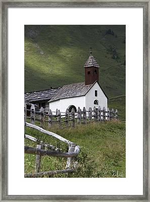Framed Print featuring the photograph Alpine Church. by Raffaella Lunelli