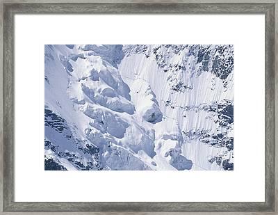 Alpine Glacier, Switzerland Framed Print