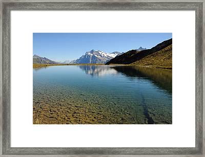 Alpine Lake Near Grindelwald, Switzerland Framed Print by Werner Büchel