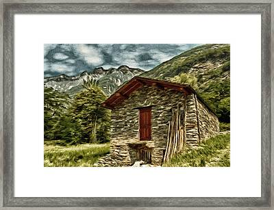 Alpine Ruins Framed Print by Jeffrey Kolker