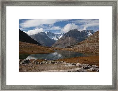 Alps Near Aletschgletsjer Framed Print