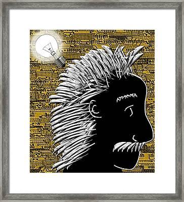 Al's Bright Idea Framed Print