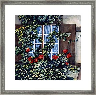 Alsace Window Framed Print