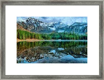 Alta Lakes Reflection Framed Print