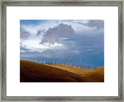 Altamont Pass California Framed Print