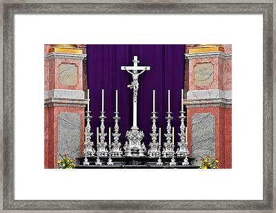 Altar Dresdener Hofkirche Framed Print by Christine Till