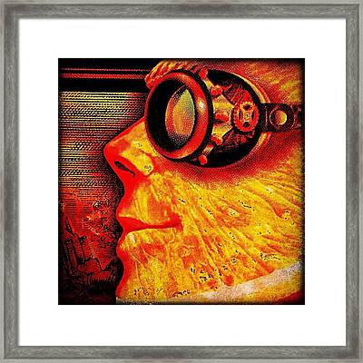 Altered Detail From A Six-pack Holder Framed Print