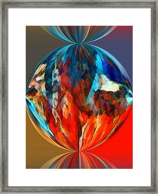 Alternate Realities 1 Framed Print by Angelina Vick