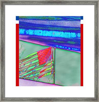 Alternate Reality Two - American Flag Framed Print