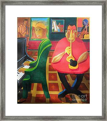Jazz N Blues Had A Baby And Someone Named It Rock N Roll Framed Print