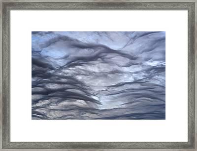 Altocumulus Undulatus Clouds Framed Print
