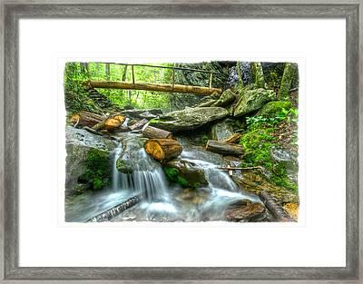 Alum Cave Bluff Trail Framed Print by Debra and Dave Vanderlaan