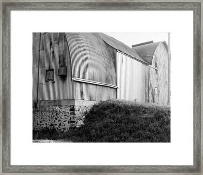 Aluminum Unique Barn Section Framed Print by Jan W Faul