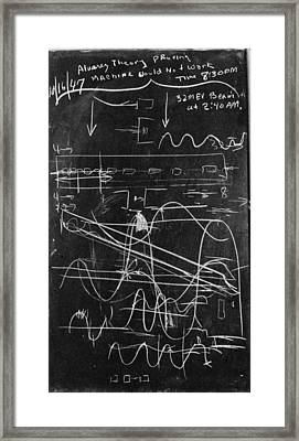 Alvarez's Calculations Framed Print by Lawrence Berkeley National Laboratory