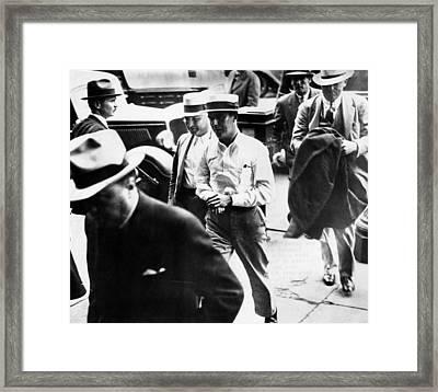 Alvin Karpis, Public Enemy No. 1, Walks Framed Print by Everett
