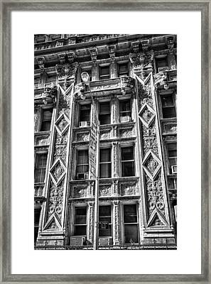 Alwyn Court Building Detail 15 Framed Print by Val Black Russian Tourchin