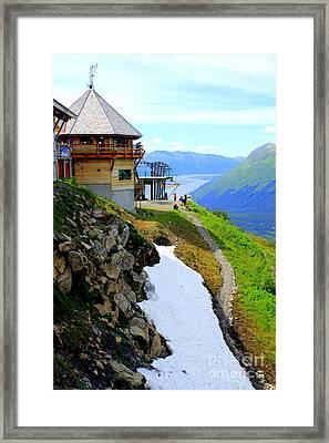 Framed Print featuring the photograph Alyeska Ski Resort Alaska by Kathy  White