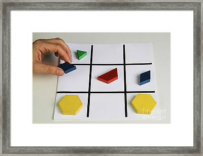 Alzheimers Puzzle Framed Print by Photo Researchers, Inc.