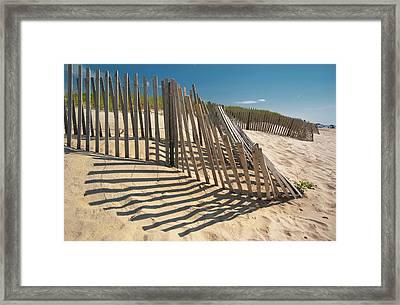 Amagansett Beach Fence Framed Print