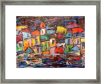 Amalfi At Night Framed Print