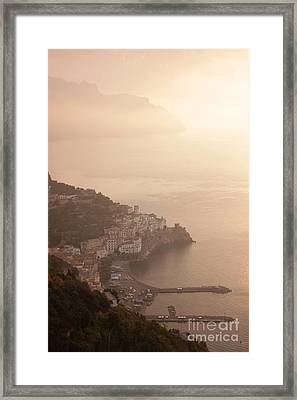 Amalfi At Sunrise Framed Print by Chris Hill