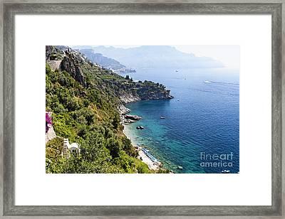 Amalfi Coast At Conca Dei Marini Framed Print by George Oze