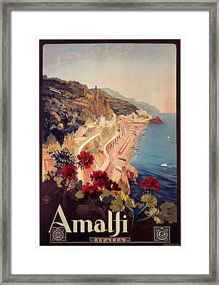 Amalfi Framed Print by Mario Borgoni