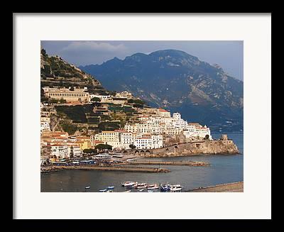 Villa By The Sea Framed Prints