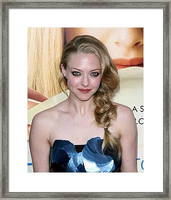 Amanda Seyfried  At Arrivals Framed Print