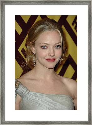 Amanda Seyfried At Arrivals For After Framed Print by Everett