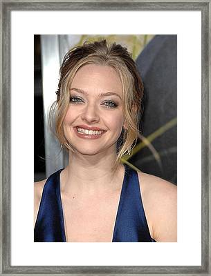 Amanda Seyfried At Arrivals For Dear Framed Print