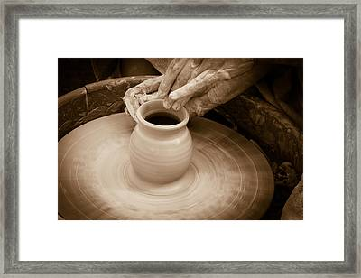 Amazing Hands Iv Framed Print by Emanuel Tanjala