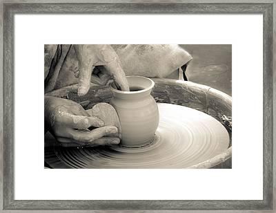 Amazing Hands Vi Framed Print by Emanuel Tanjala