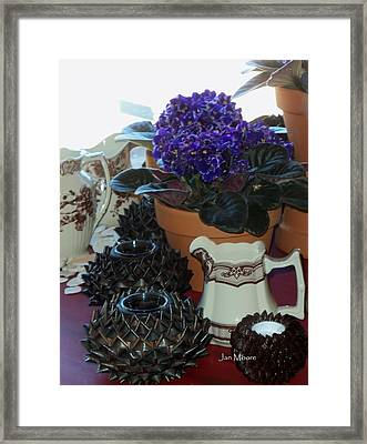 Amazing Still Life Scenes At Ron's In Grover Beach Ca Framed Print by Jan Moore