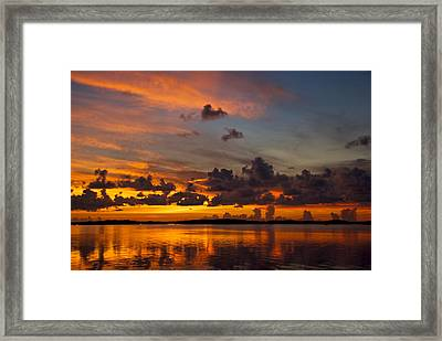Amazing Sunset Framed Print by Mike Horvath