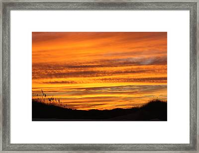 Amazing Sunset Over Obx Framed Print by Kim Galluzzo Wozniak