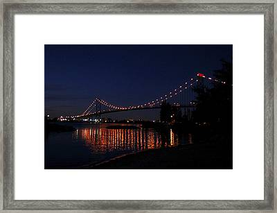 Ambassador Bridge At Night Framed Print